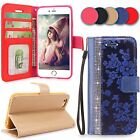 For iPhone 5 5S SE Flip Stand Wallet Leather Case Protective Cover Pouch Folio