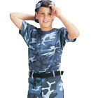 Kid's Camo Shirt Youth Color Camouflage Tee Shirts Kid's Army Shirt 5 Colors!