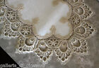 "Delicate Gold Trim Runner Lace 35"" Doily  Estate Design"