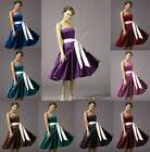 Long sash party prom weddingl bridesmaid cocktail evening dress gown ballgown