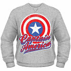 AVENGERS ASSEMBLE Captain America Colour Shield Marvel CREW NECK SWEATER NEU
