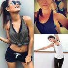 Women Sexy Sleeveless Loose Sport Gym Vest Tank Tops Blouse Crop Top Shirt B20E