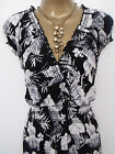 New Samya Simply Be Maxi Dress Black White Floral Size 16 Summer Holiday Beach