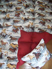 """8-10 pd WEIGHTED twin  BLANKET """"Horses"""" ADHD autism INSOMNIA """"FREE"""" pillow"""