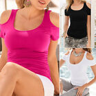 Fashion Women Short Sleeve Sexy Shirt Blouse Ladies Summer Casual Loose Tops AS