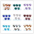 10/30pcs 14mm Love Heart Shape Jewelry Findings Loose Glass Beads Free Shipping