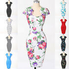 Vintage Women Wiggle Pencil Dress Pin Up 50's Housewife Slim Fit Dress Cheap New