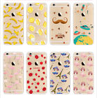 Cartoon Ultra Thin Soft TPU Crystal Clear Case Cover For Apple iPhone 6 6S Plus