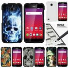 For Huawei Union| Slim Fit Hard 2 Piece Case Sinister Skulls