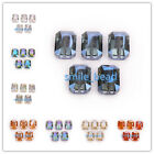 18mm Rectangle Faceted Crystal Glass Spacer Loose Charms Beads Free Shipping