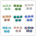 14mm Charms Faceted Twist Tile Glass Crystal Finding Loose Spacer Beads Jewelry