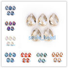 New 10pcs 18x8mm Faceted Glass Crystal Teardrop Bracelet Jewelry Spacer Beads