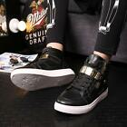 Fashion Mens PU Leather Cingulate Hip-hop Shoes Casual Sneakers Ankle Boots - LD