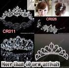Silver Fairy Crystal Tiara diadem Wedding Bridal Bridesmaids prom costume party