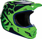 Fox Adults V1 Motocross Enduro MX ATV Off Road Helmet - Flo Green