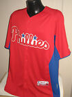 MLB Philadelphia Phillies Cool Base Baseball Jersey Majestic Mens Sizes Nwt Red