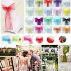 Wholesale quality organza chair sash bows ribbons wedding party venue decrations
