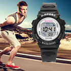 Children Boy Silicone Digital Waterproof LED Sports Alarm Date Watch Gift Geneva