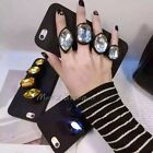 """Soft Rubber Knuckle Diamond Jewel Ring Holder Case Cover for iPhone 6S 6 4.7"""""""