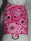 DOG CAT FERRET Custom Harness~BCA Country Paisley PINK Breast Cancer Awareness
