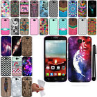 For Alcatel One Touch Fierce 2 7040T Design TPU SILICONE Rubber Case Cover + Pen