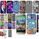 For HTC One 2 M8 Cute Design TPU SILICONE Rubber Soft Case Phone Cover + Pen