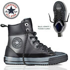 Converse Black Leather Hi Top Ladies Womens Boys Girls All Star Trainers Shoe UK