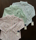 NWT Ralph Lauren Boys L/S Striped Oxford Blake Dress Shirt Sz 5 or 6 NEW $40