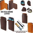 For Samsung Galaxy S6 G920 Sleeve Genuine Real Leather POUCH Case Cover + Pen