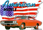 1969 Red Dodge Charger 500 Custom Hot Rod USA T-Shirt 69, Muscle Car Tee's