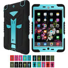 Color Hybrid Silicone Shockproof Cover Case Hard Protective For iPad 2/3/4 mini