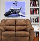 F4B Phantom Military Jet Fighter Plane WALL DECAL MAN CAVE DECOR MURAL PRINT