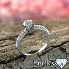 Diamond Engagement Ring 14K White Gold Natural 1.04 TCW VS G-H Size 5.5 Enhanced