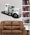 Kenworth w900 Semi Truck Cab WALL GRAPHIC FAT DECAL MAN CAVE BAR ROOM 9293
