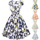 Casual Vintage Floral Retro Swing 50's 60s Housewife Pinup Party Dress PLUS SIZE