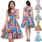 50's Vintage Dress Retro Style Pinup Evening Cocktail Party Prom Swing Dress New