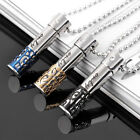 1Pc Fashion Stainless Steel Necklace Hollow-out Perfume Bottle Pendant Jewelry