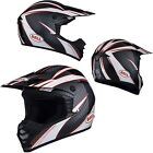 NEW BELL SX-1 REACTOR BLACK/RED/WHITE OFFROAD MOTORCYCLE/ATV HELMET