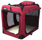 EliteField Maroon 3-Door Folding Soft Dog Crate Cage Kennel 4 Sizes