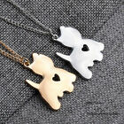 1pc  New Gold/Silver Cute Heart Cat Pendant Necklace Chain Cute Jewlery Gift