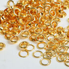 4/5/6/8/10mm x 100 Gold Eyelets w/Washer Grommets Leather Craft Scrapbooking