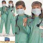 ER DOCTOR SURGEON SCRUBS HOSPITAL Age 3-10 Boys Childs Fancy Dress Costume