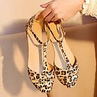 HOT Summer Fashion Lady Women's Sandals Shoes Leopard Flat Heel Flip Flops B20E