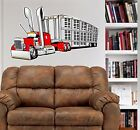 Peterbilt Stock Hauler Semi Truck WALL GRAPHIC DECAL MAN CAVE MURAL PRINT #1033