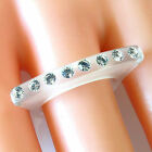 Frosted Acrylic Ring Single Row Large Swarovski Elements Crystal On Raised Top