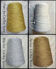 Luscious ICE  Cotton Rayon Spiral Yarn 4 COLOR CHOICES  Knit Weave Crochet