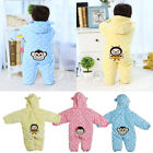 Infant Baby Boy Girls Romper Hooded Jumpsuit Bodysuit Clothes Outfit