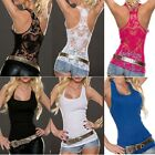 New Fashion Women Summer Tank Top Lace Vest Sleeveless Blouse T Shirt