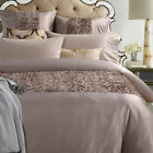 Ruched Beige Wheat Soft-Feel QUEEN*KING Bed Quilt Duvet Doona Cover Set New 2481