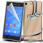 Ultra Thin Clear Gel Case Cover✔In Ear Stereo Headset for Sony Xperia X